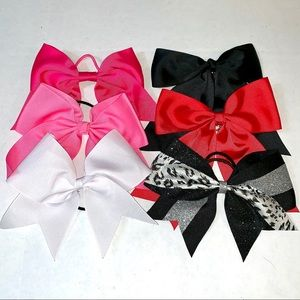 Cheer Bow Bundle of 6 authentic cheer bows OS